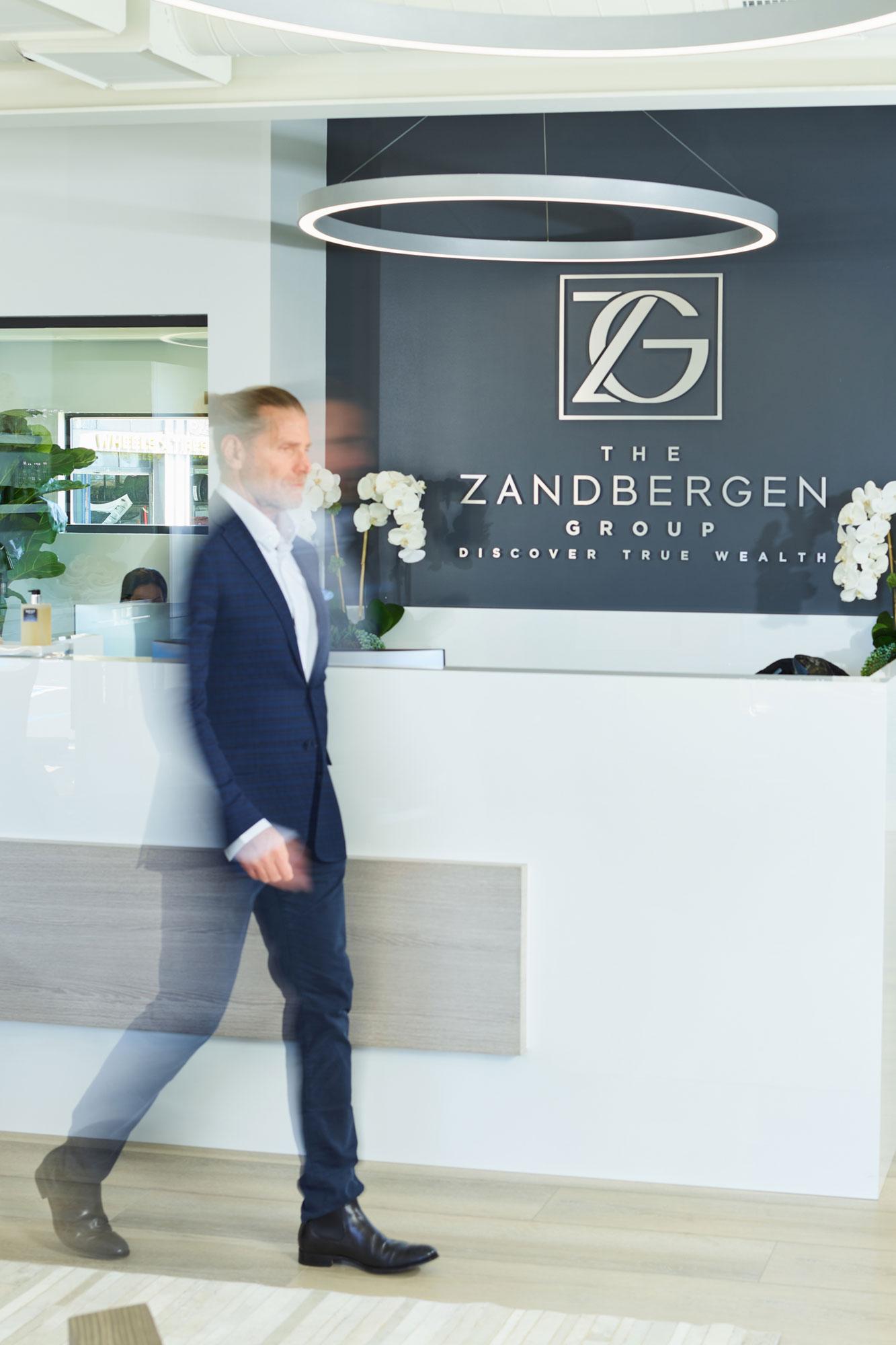 Bart Zandbergen walking in front office